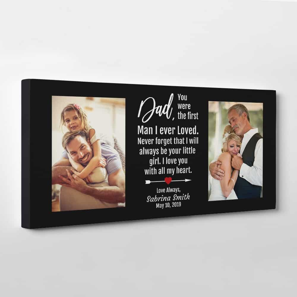 Letter from daughter To Dad Photo Canvas