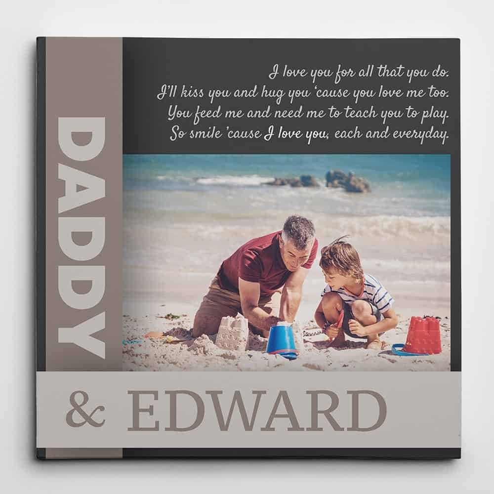 Father's Day Poem Custom Photo Canvas, Dad poem photo canvas