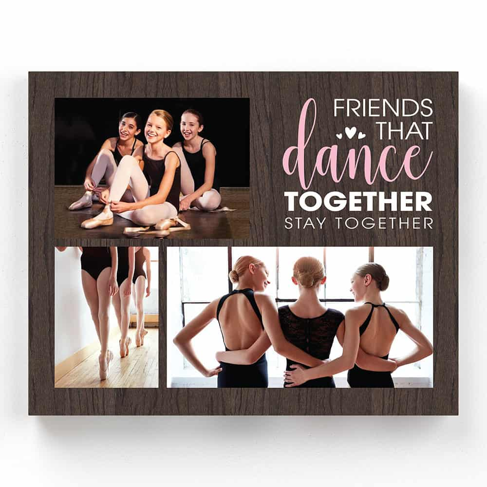 best friends custom photo canvas