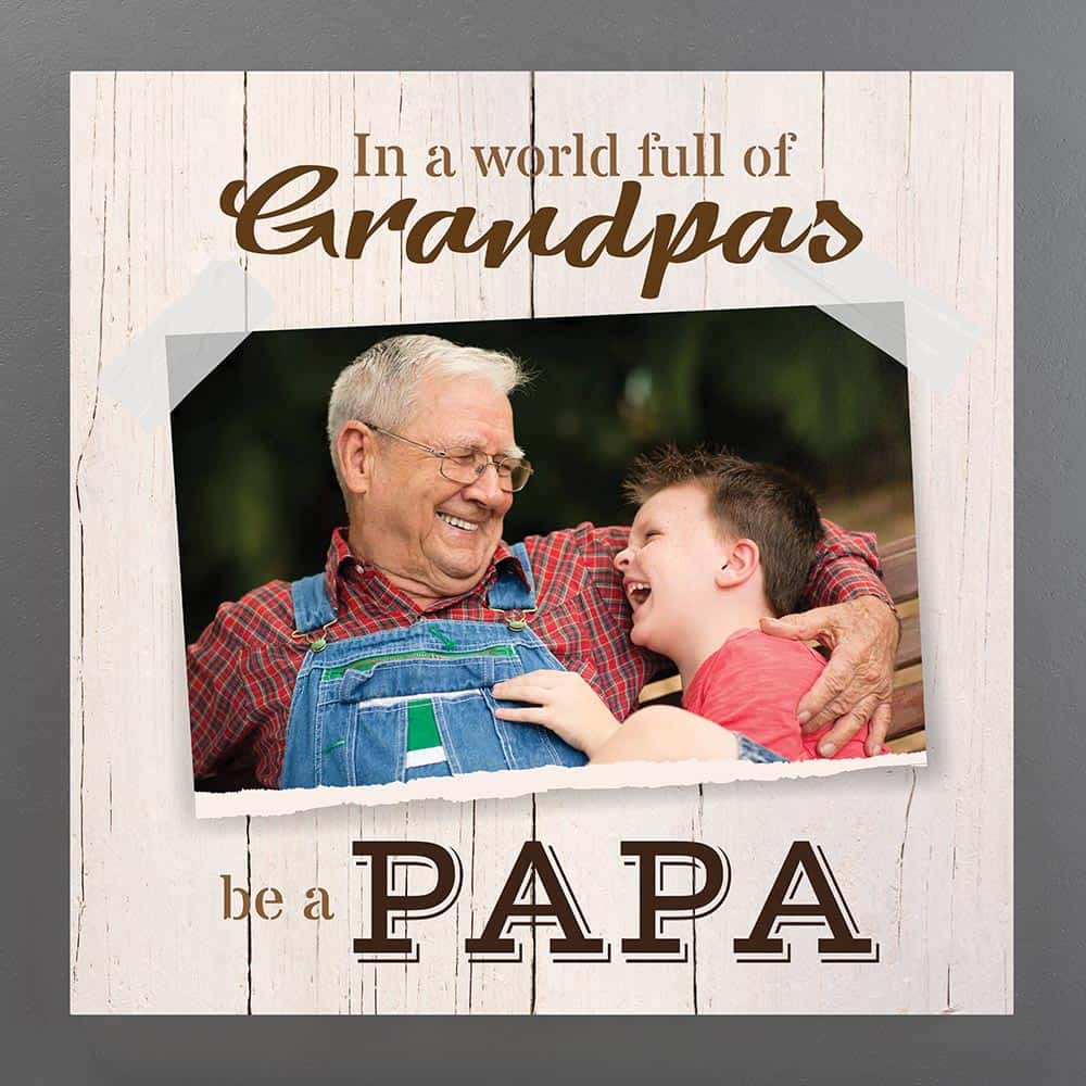 personalized photo canvas gift for grandpa