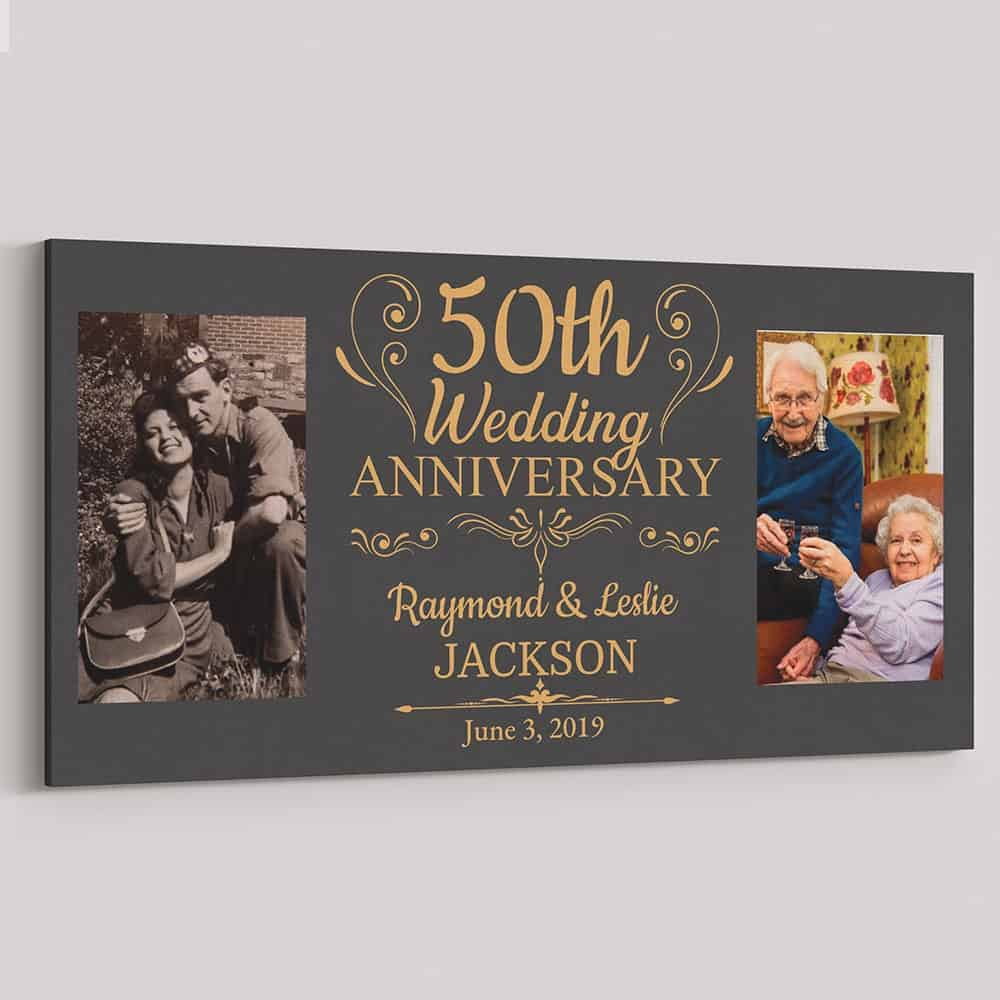 Wedding Anniversary Photo Canvas Gift