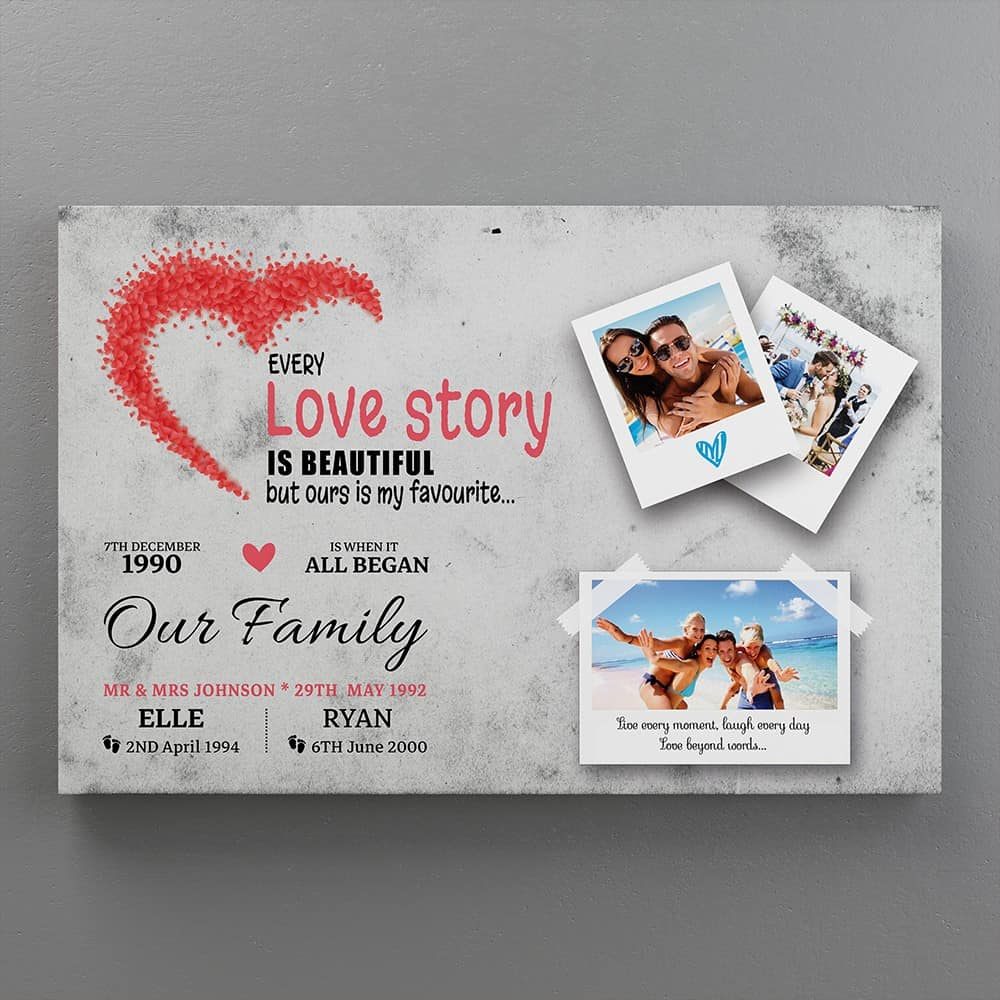 our love story is my favorite canvas