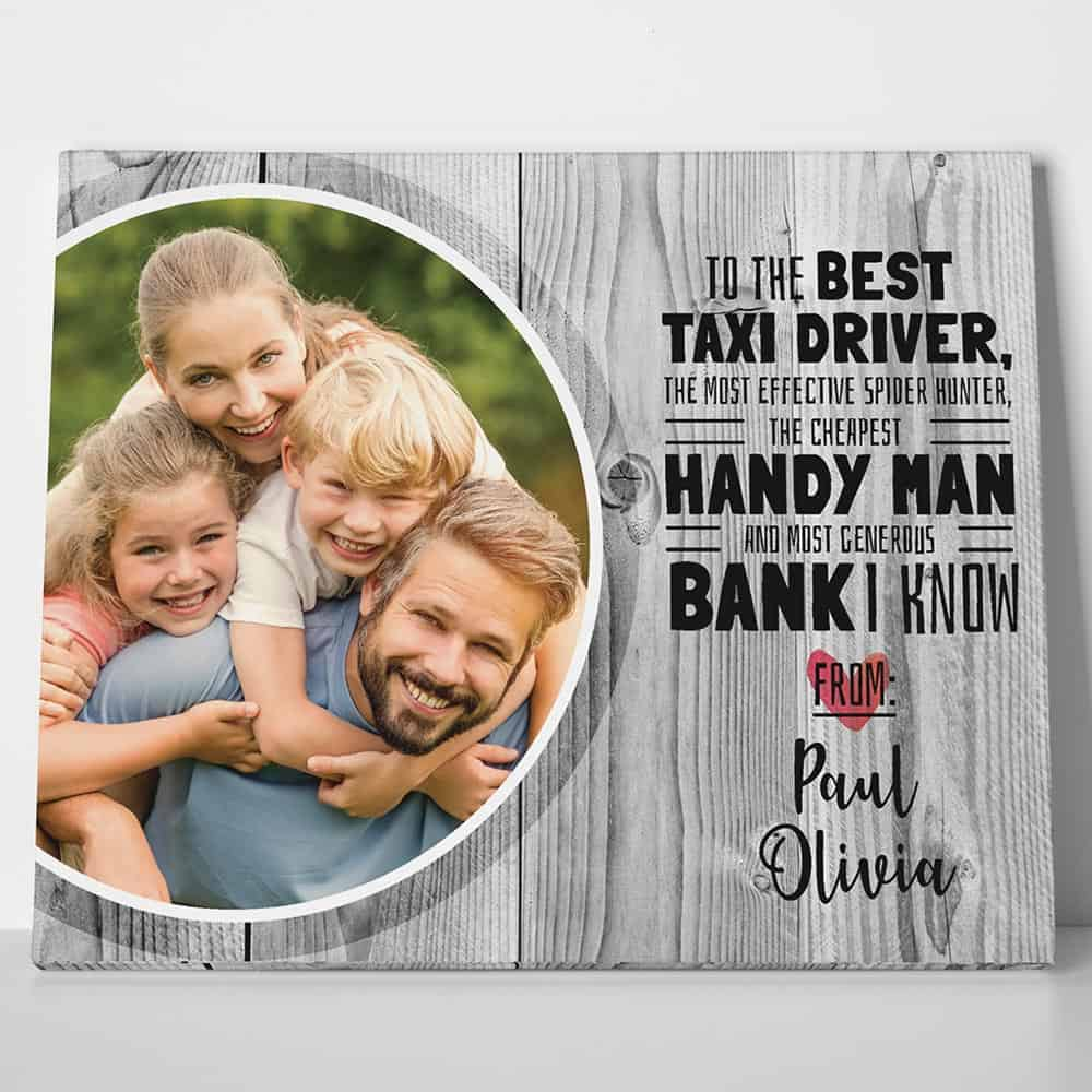 Father's Day Custom Photo Canvas