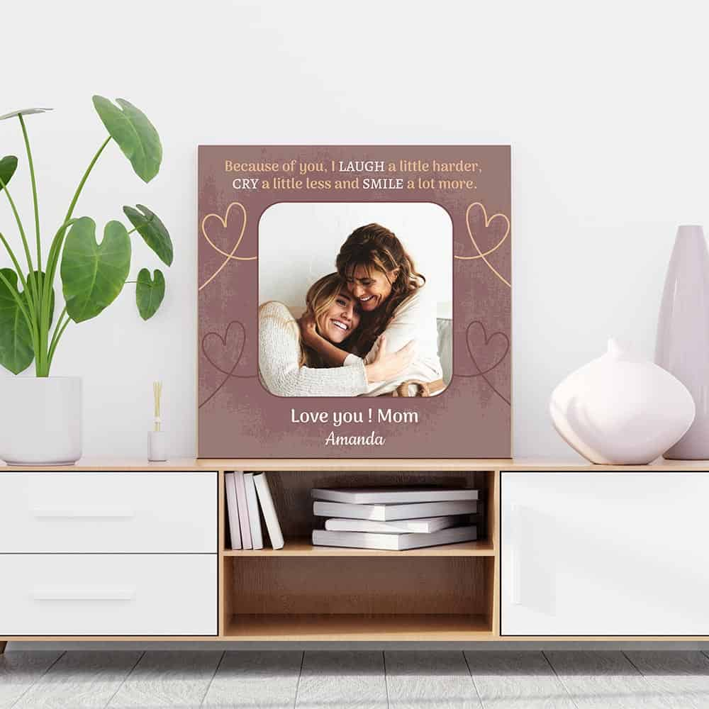 Mother Daughter Custom Photo Canvas