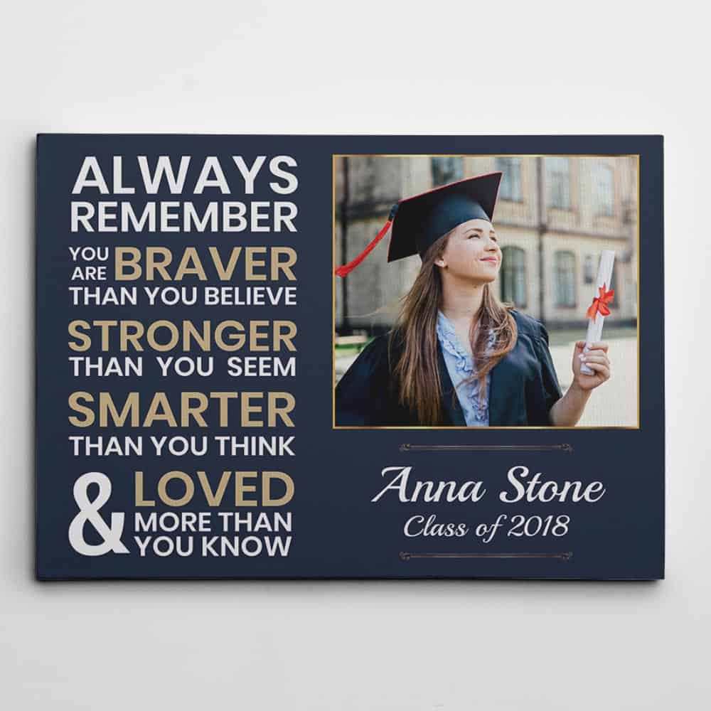 You Are Stronger Than You Think Graduation Custom Photo Canvas