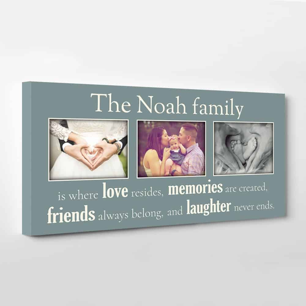 Family Is Where Love Resides Custom Photo Canvas