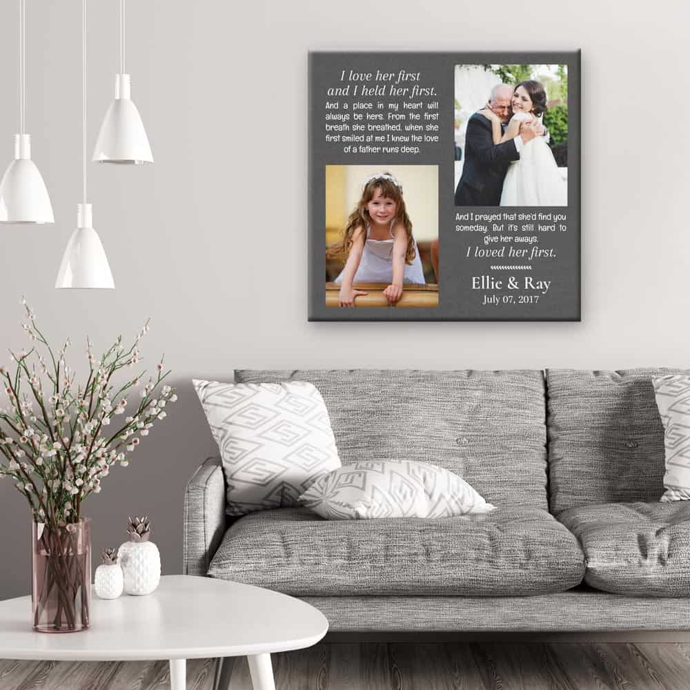 I Loved Her First Custom Photo Canvas
