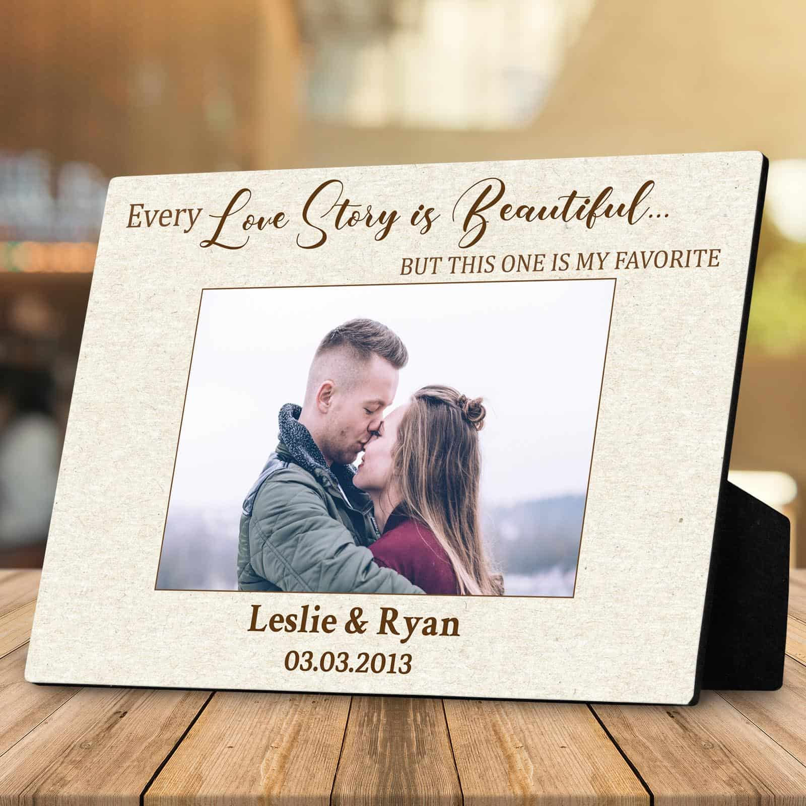 our love story custom photo plaque couple gifts