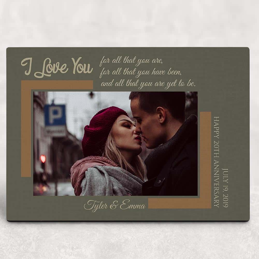 I Love You For All That You Are Desktop photo plaque