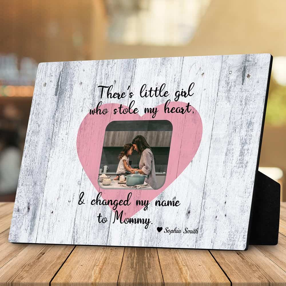 There is a Little Girl/Boy Who Stole My Heart Desktop Photo Plaque