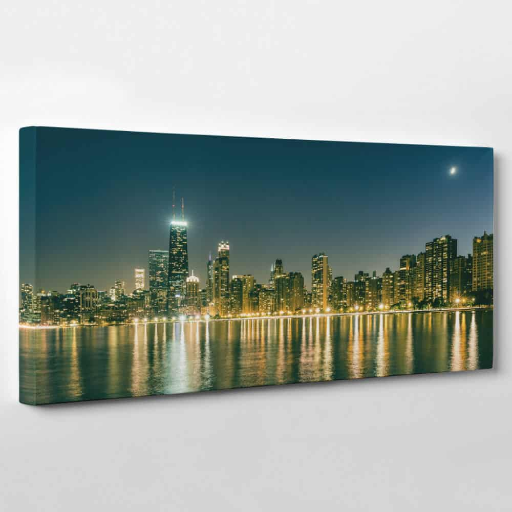 chicago illinois skyline canvas wall art