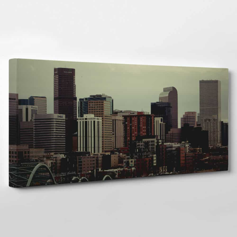 Denver, Colorado Skyline Canvas Wall Art - city skyscrapers