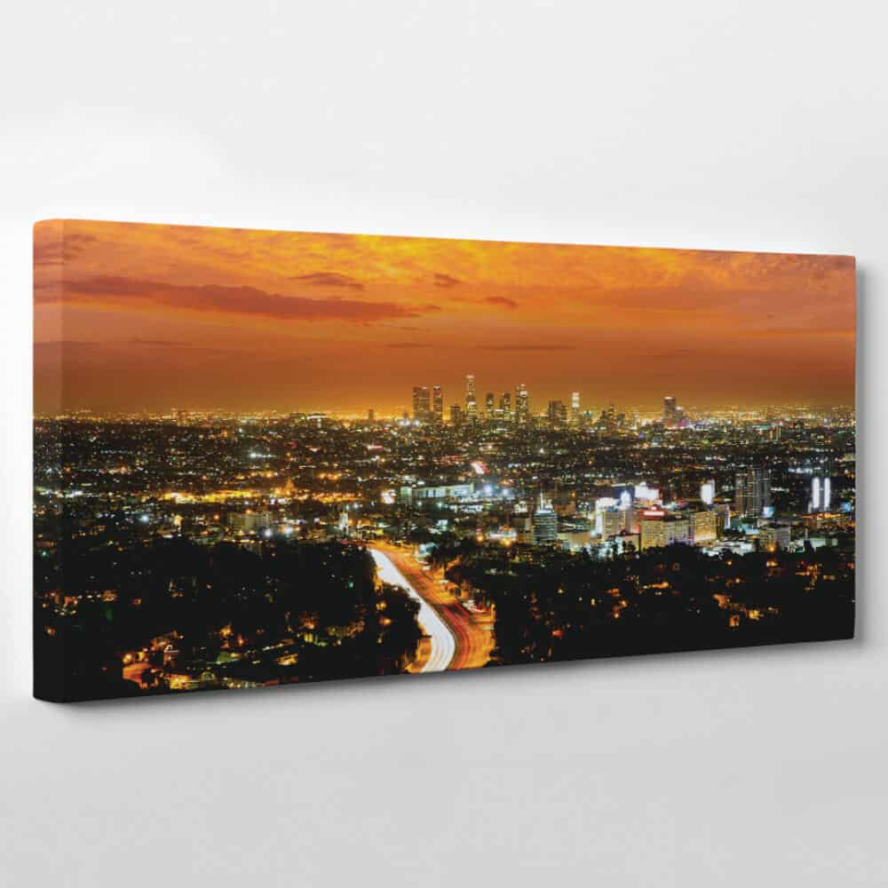 lost angeles california skyline panoramic canvas wall art