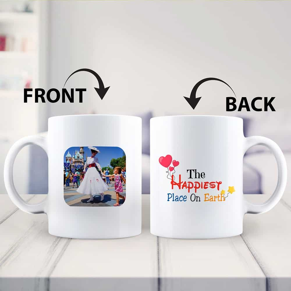 The Happiest Place On Earth Photo Mug