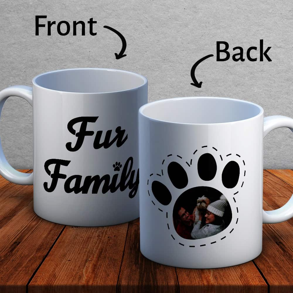 fur family photo mug
