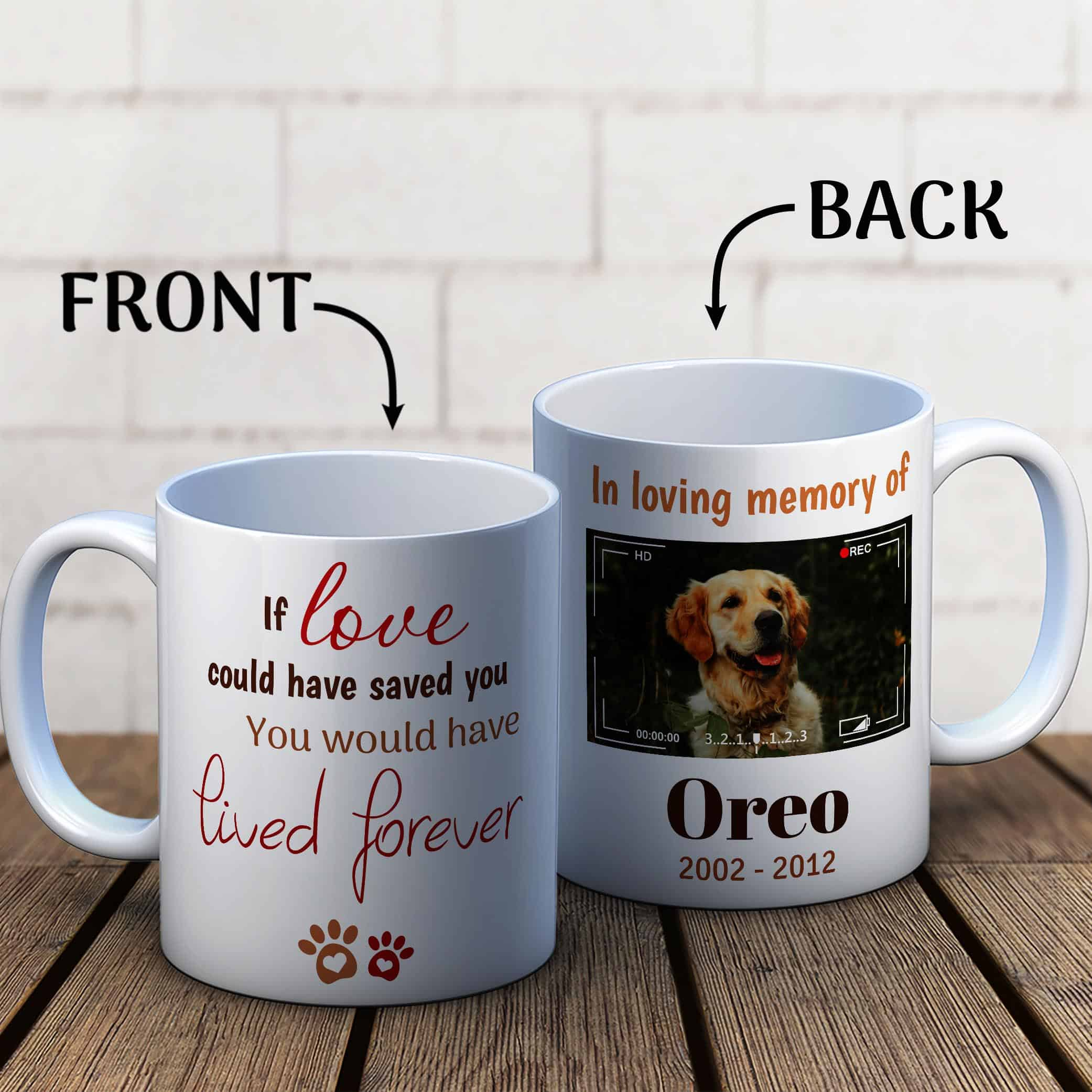 In Loving Memory Dog Photo Mug, If Love Could Have Saved You