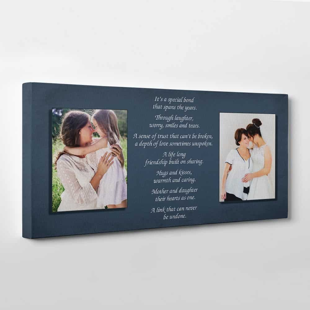 Mother and Daughter poem photo canvas