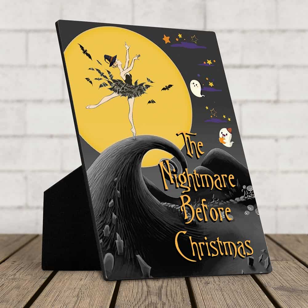 the nightmare before christmas desktop plaque
