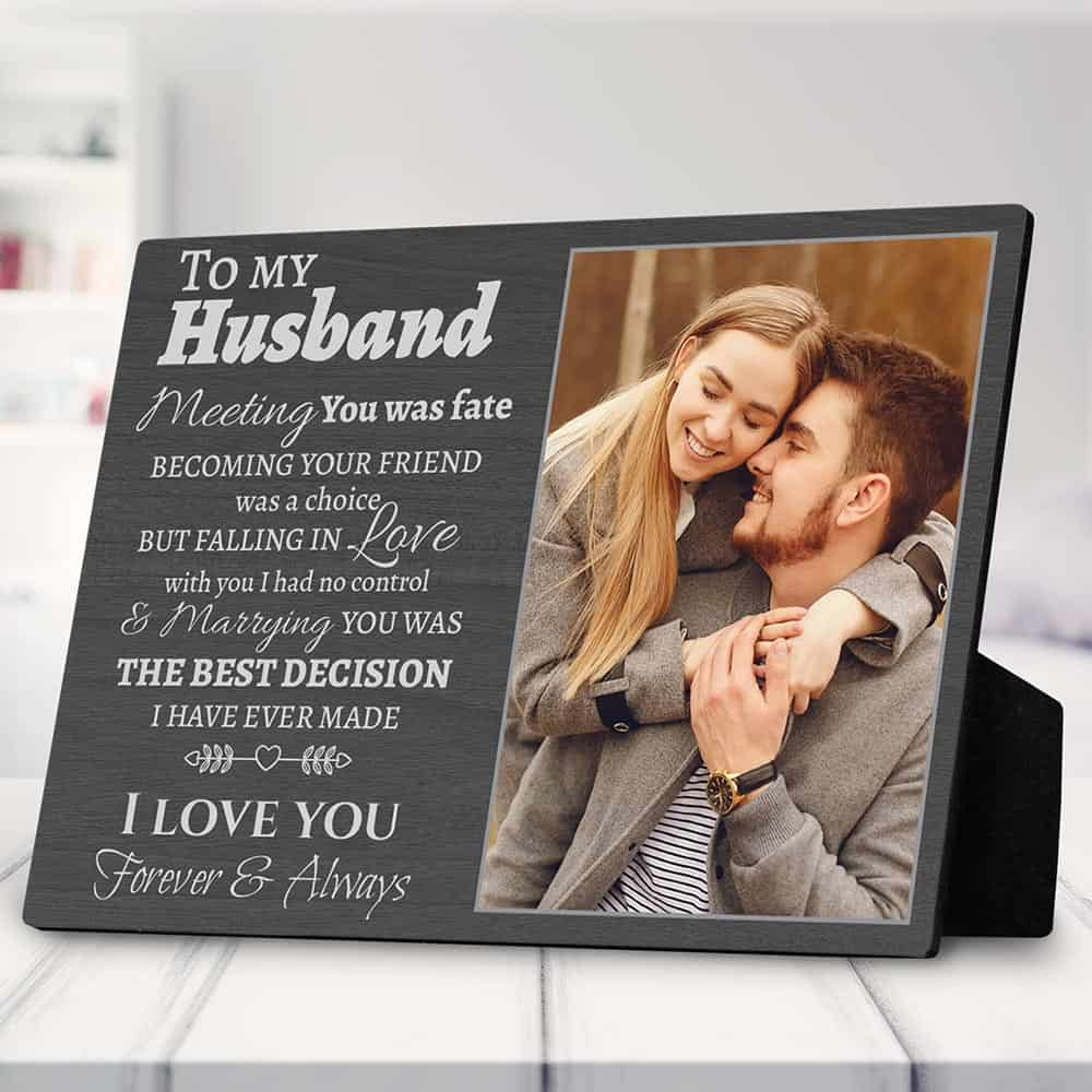 to my husband custom photo plaque anniversary gift for husband
