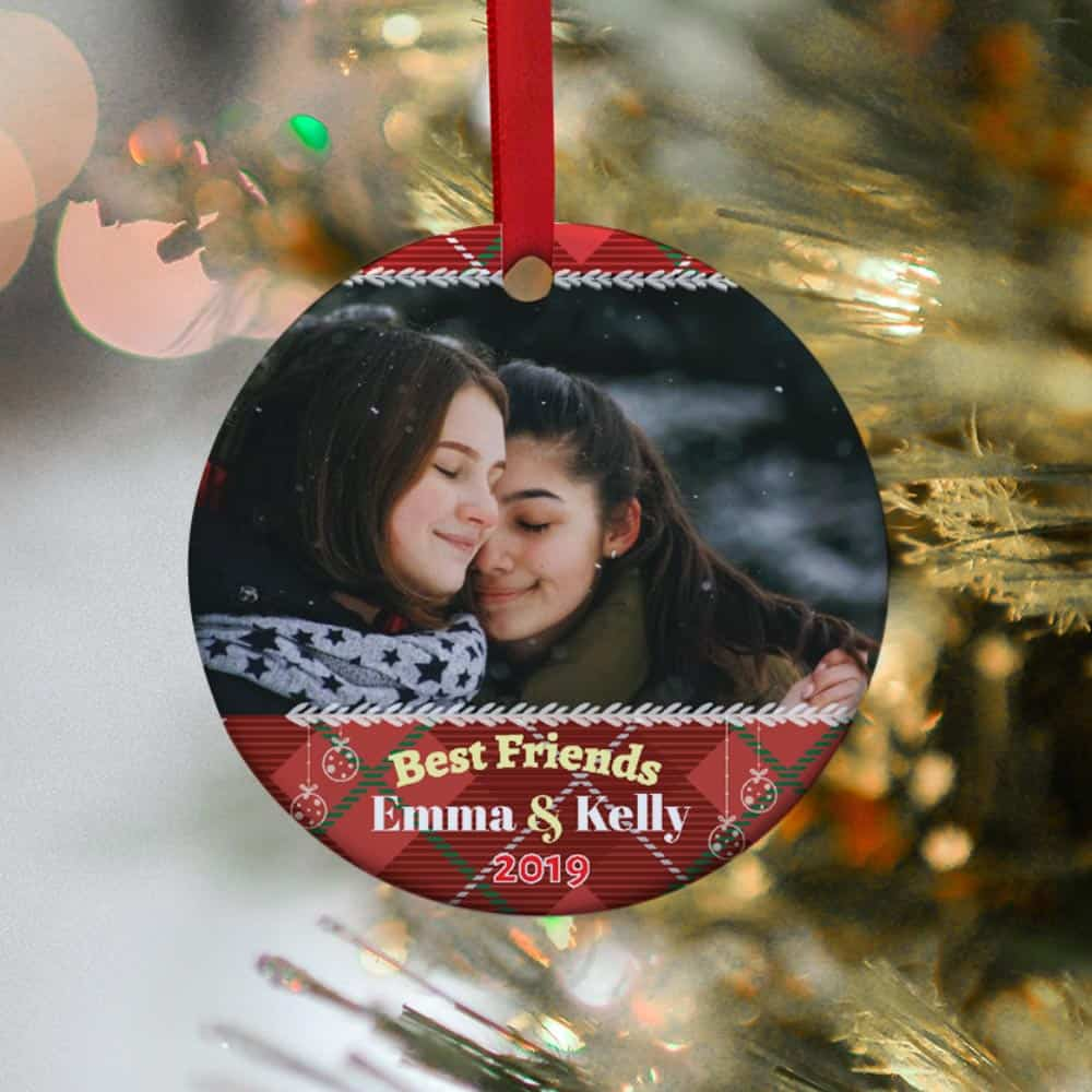 best friends custom photo christmas ornament - christmas gift idea for best friends, bff, besties