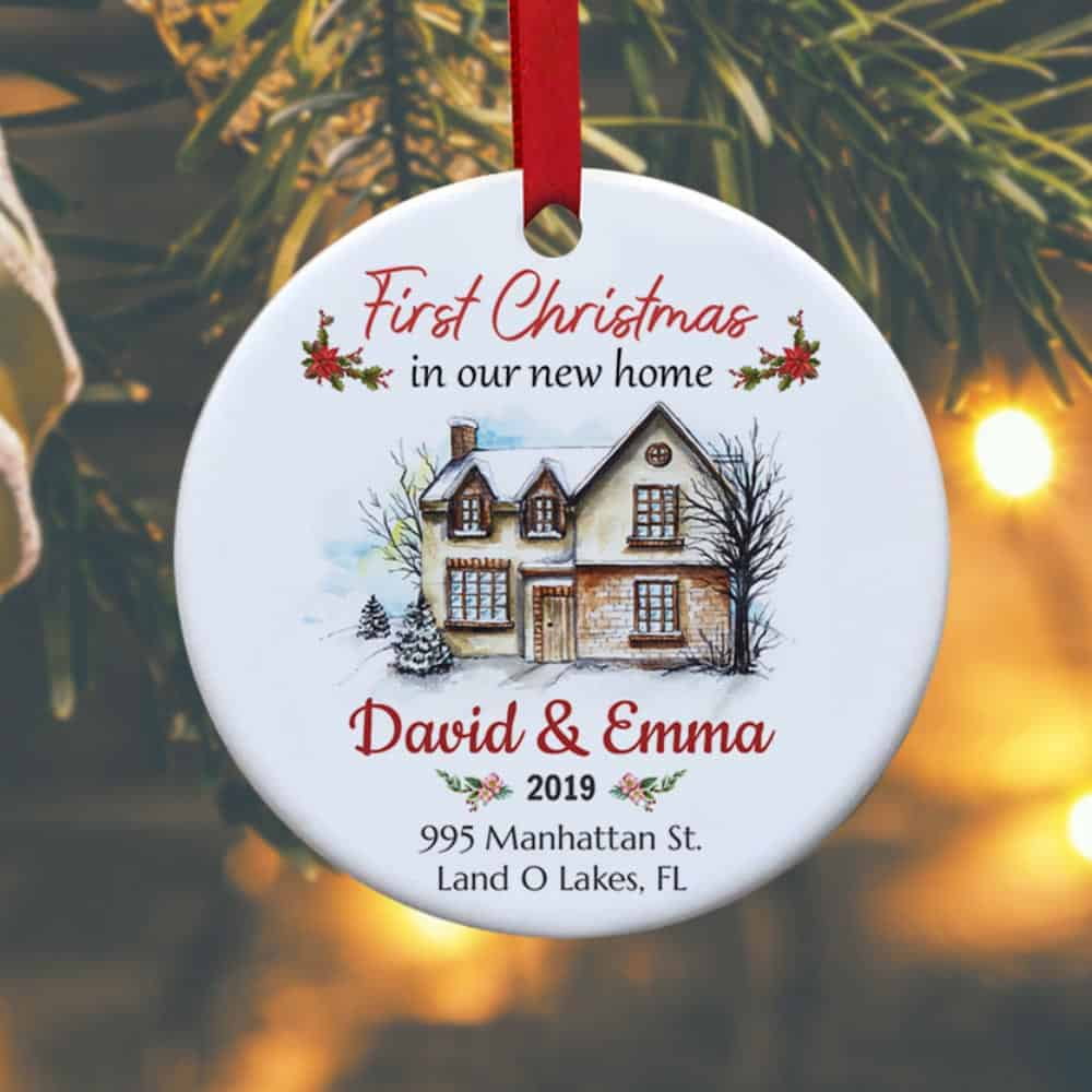 first christmas in our new home personalized christmas ornament - christmas/ house-warming gift idea