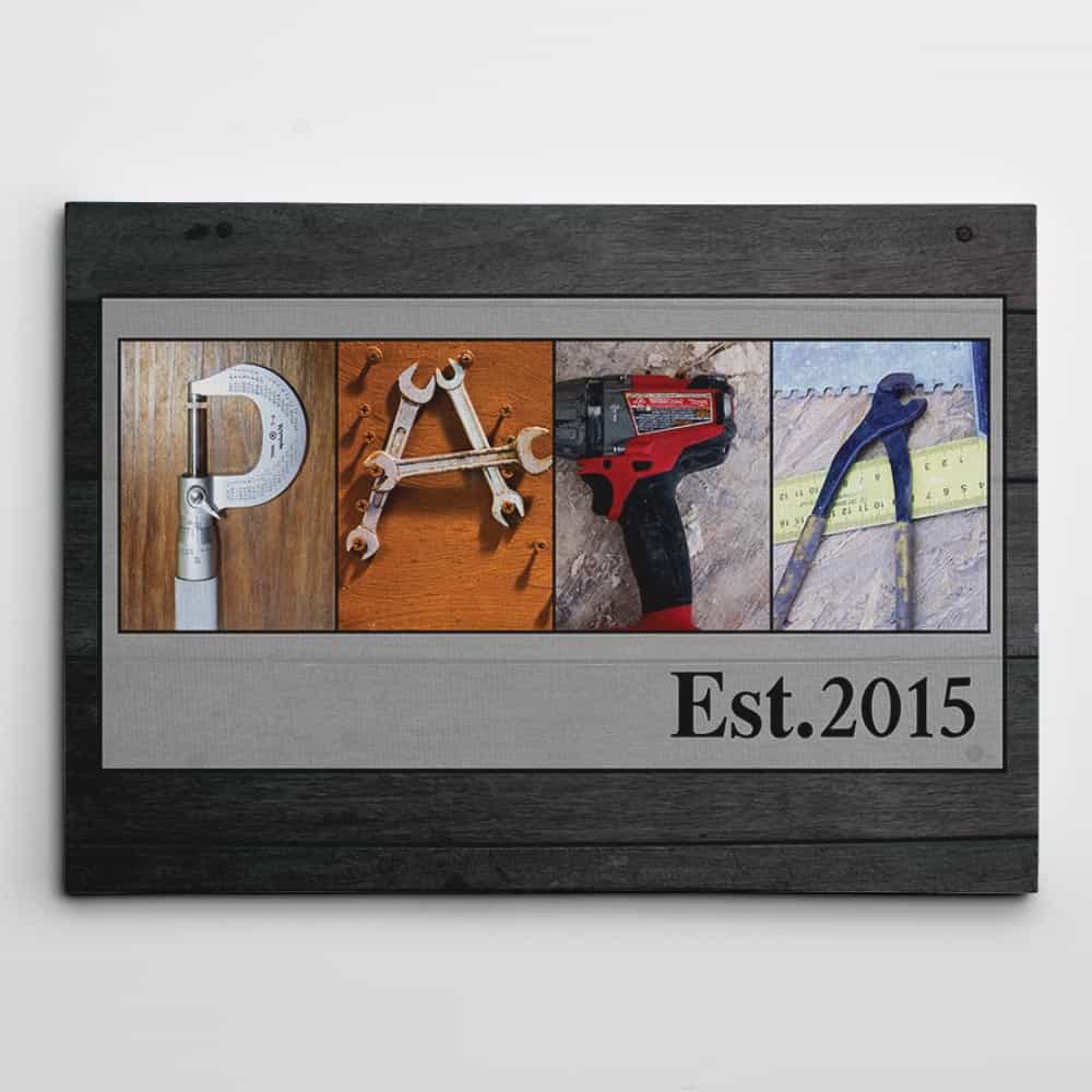 papa letter canvas art - gift idea for father