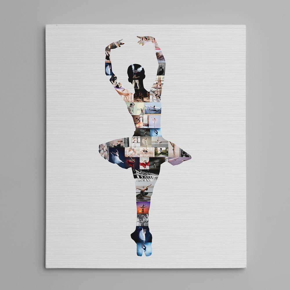 dance ballerina photo collage custom canvas print