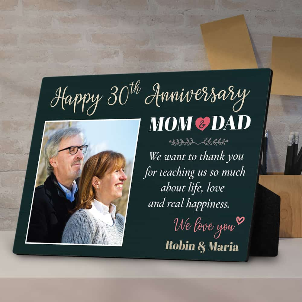 Happy Anniversary Mom and Dad Desktop Plaque