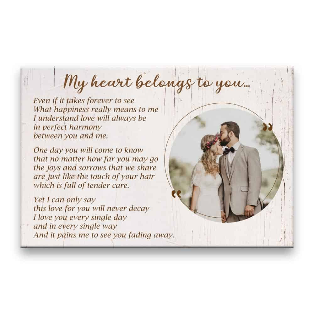 My Heart Belongs To You Photo Canvas Print