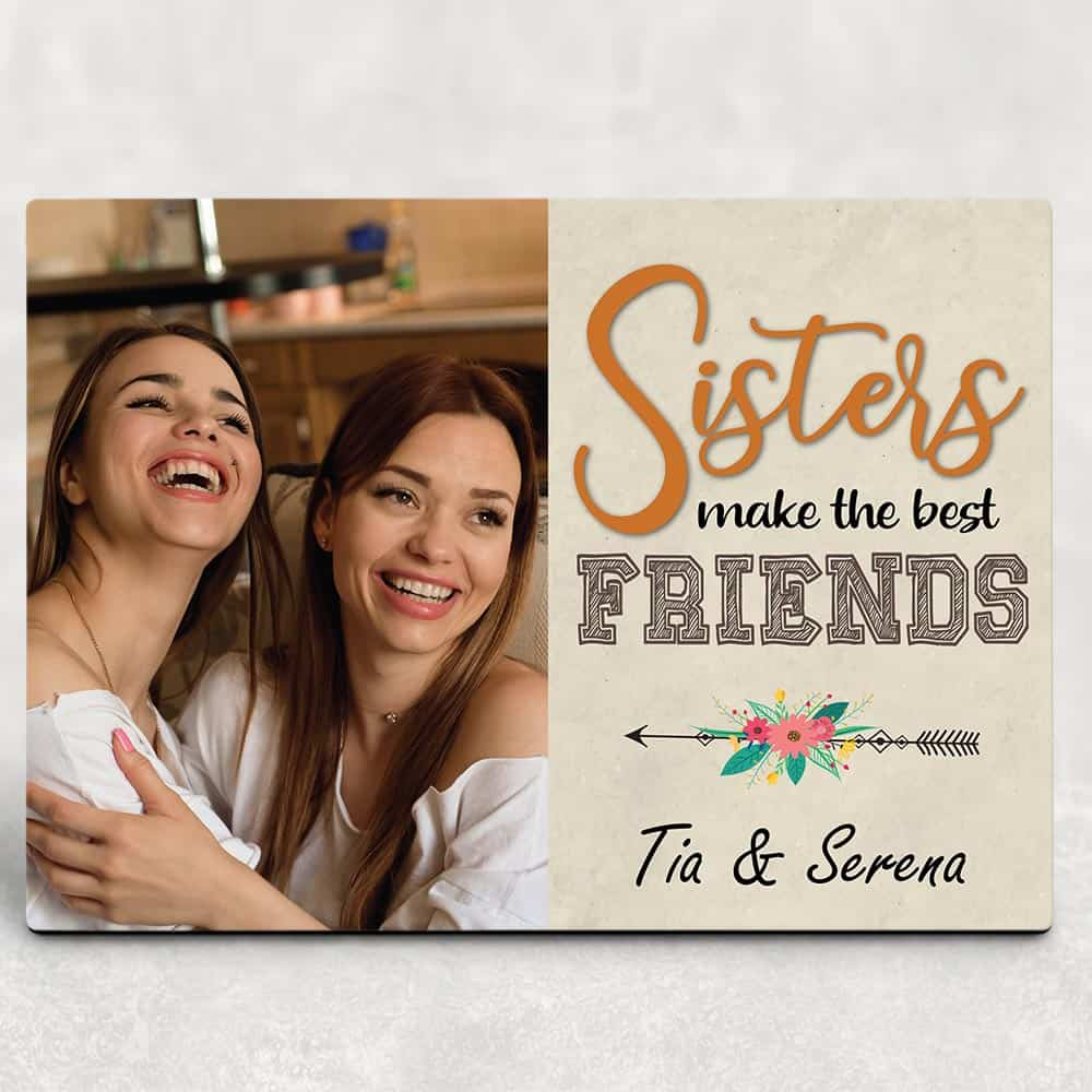 sister desktop photo plaques