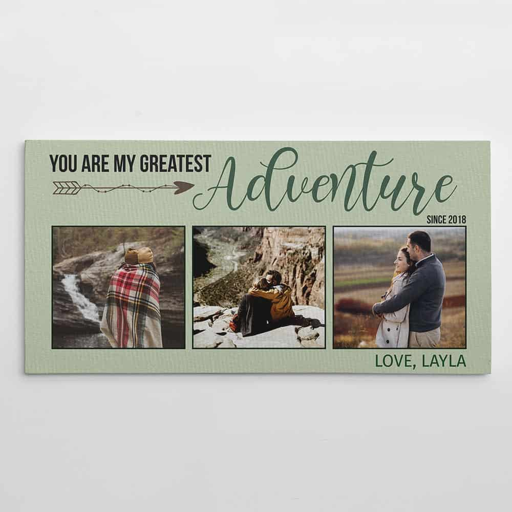 You Are My Greatest Adventure Photo Canvas