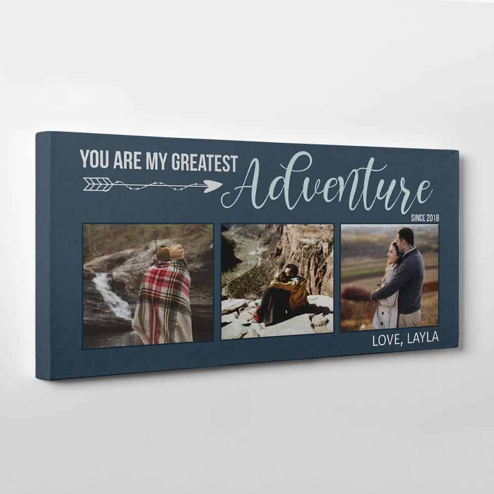 You Are My Greatest Adventure Photo Canvas Fiord Background
