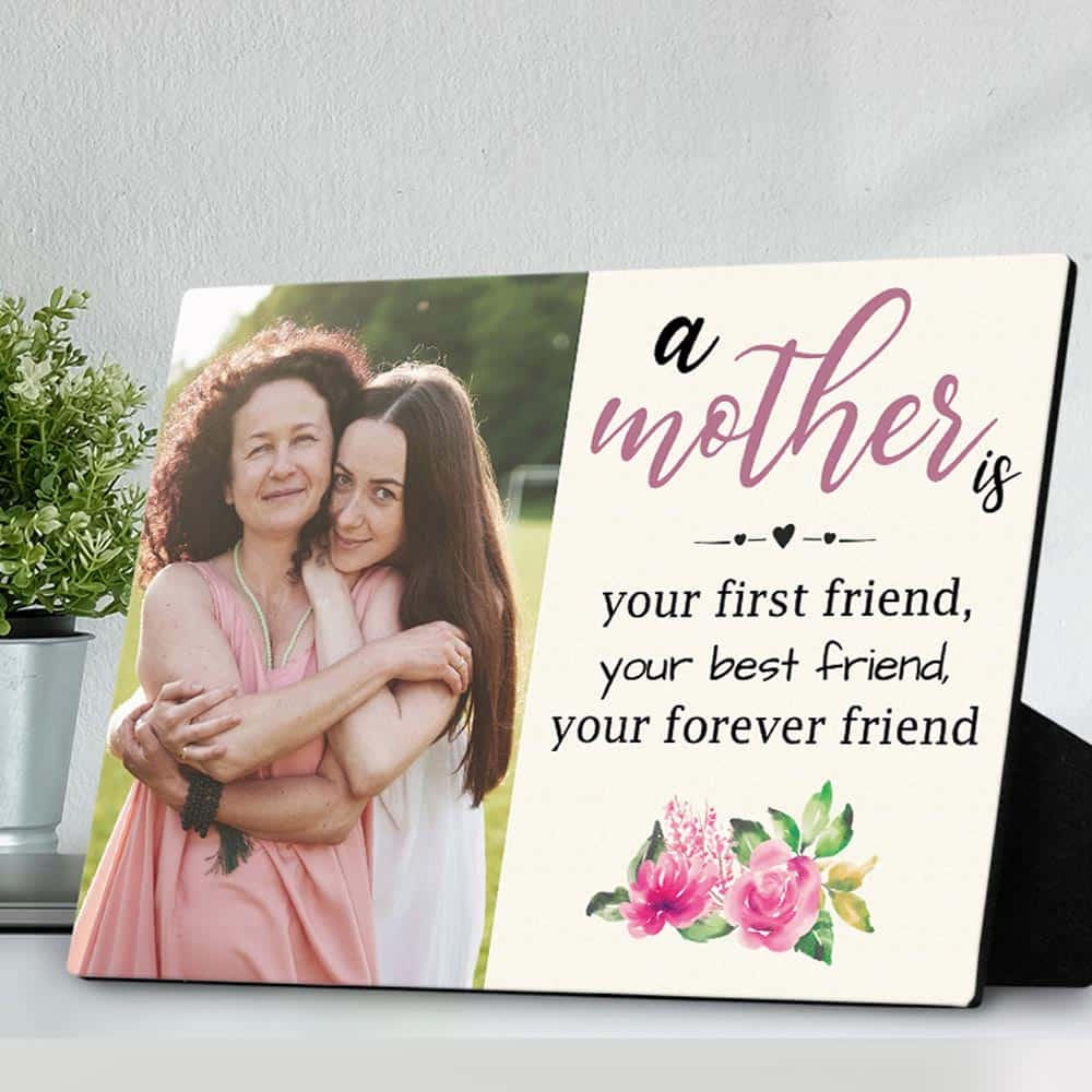 mom best friend quote photo plaque