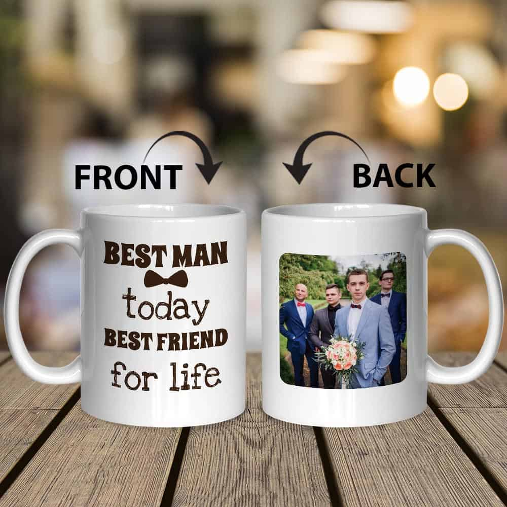 best man today custom photo mug