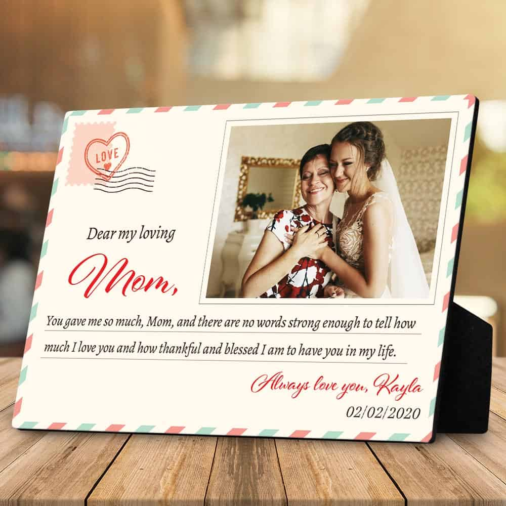 dear my loving mom plaque