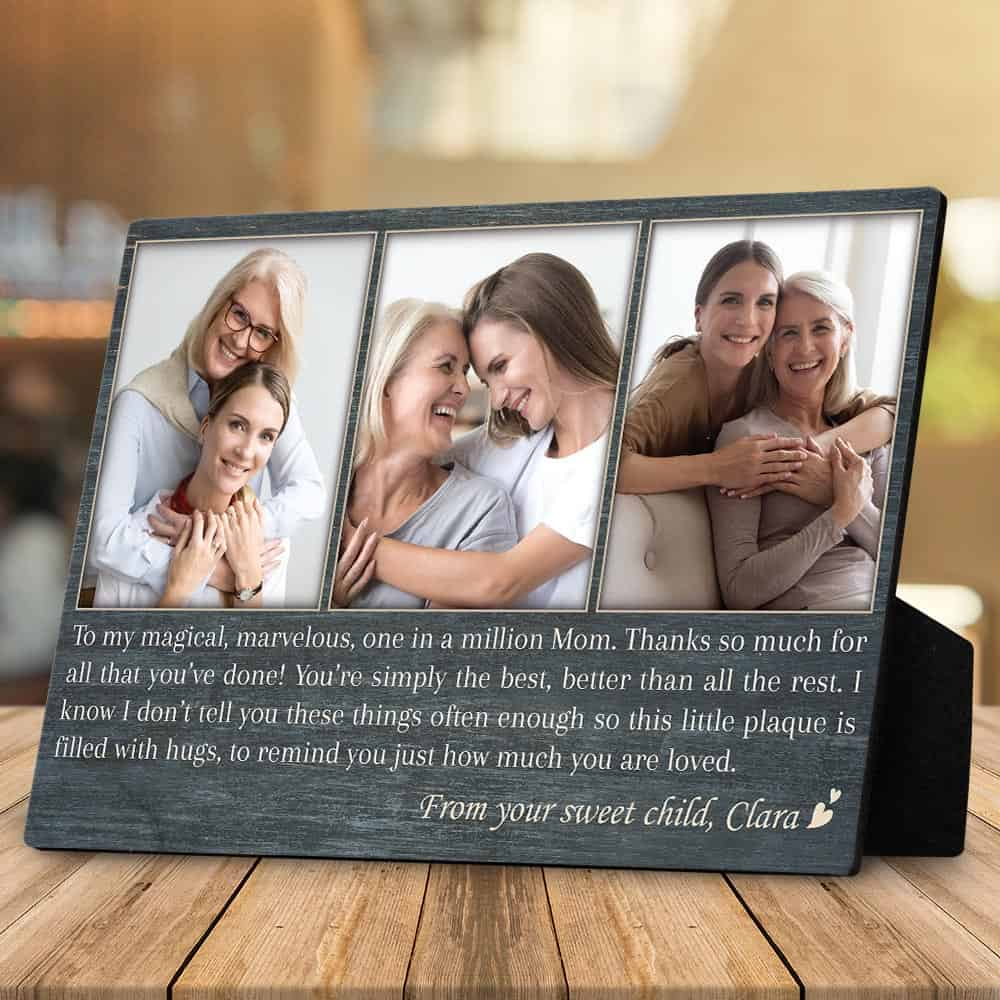 Mom, You Are One In A Million - Desktop Photo Plaque