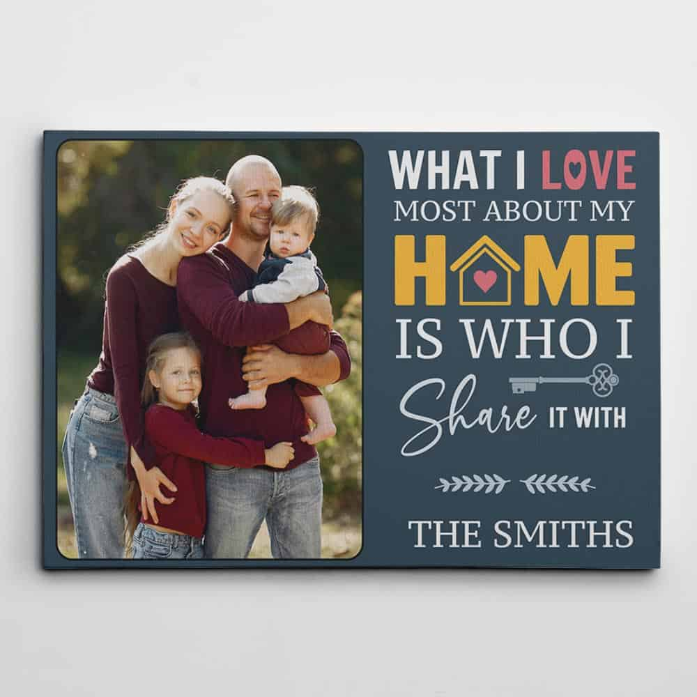 What I Love Most About My Home Is Who I Share It With Canvas Print