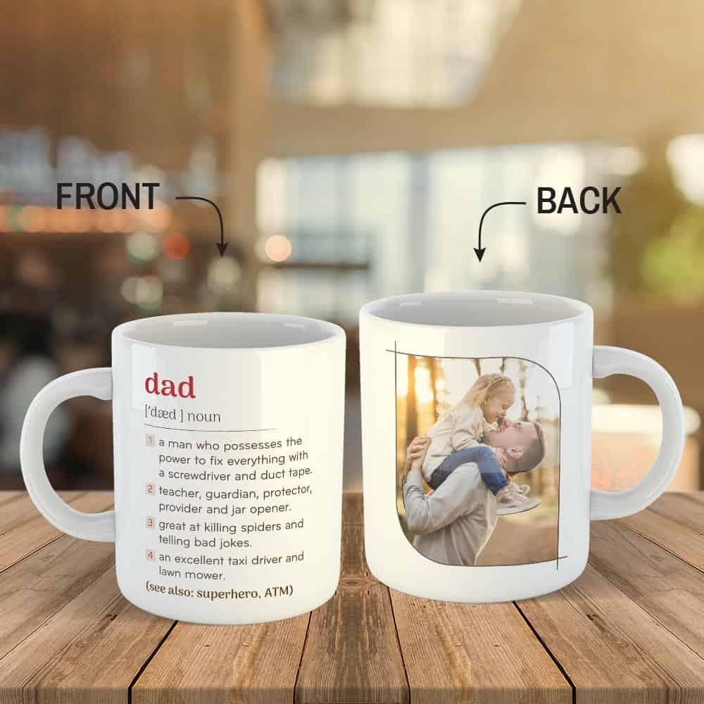 Dad, Stepdad Definition Custom Photo Mug