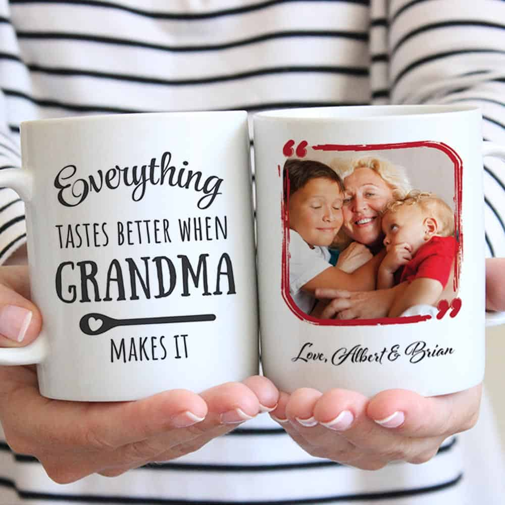 Everything Tastes Better When Grandma Makes It Photo Mug