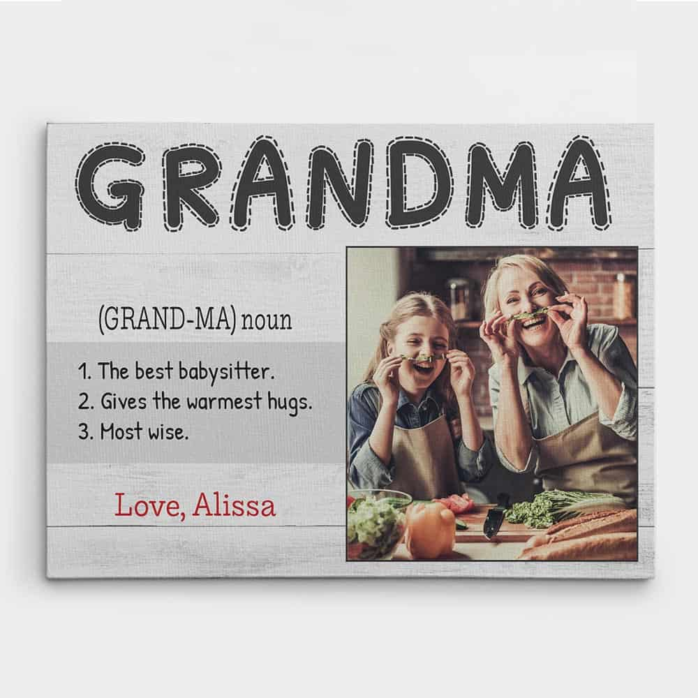 Grandma definition canvas print