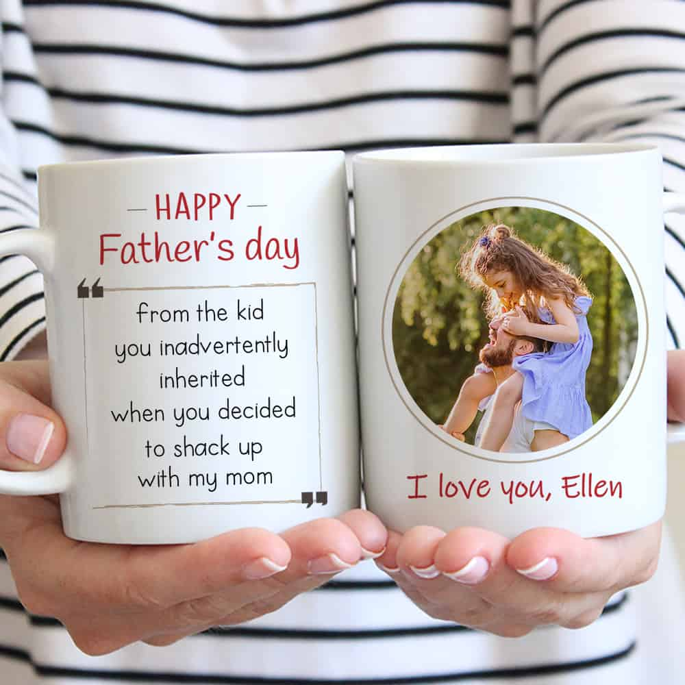 happy father's day stepdad mug - gift for stepdad