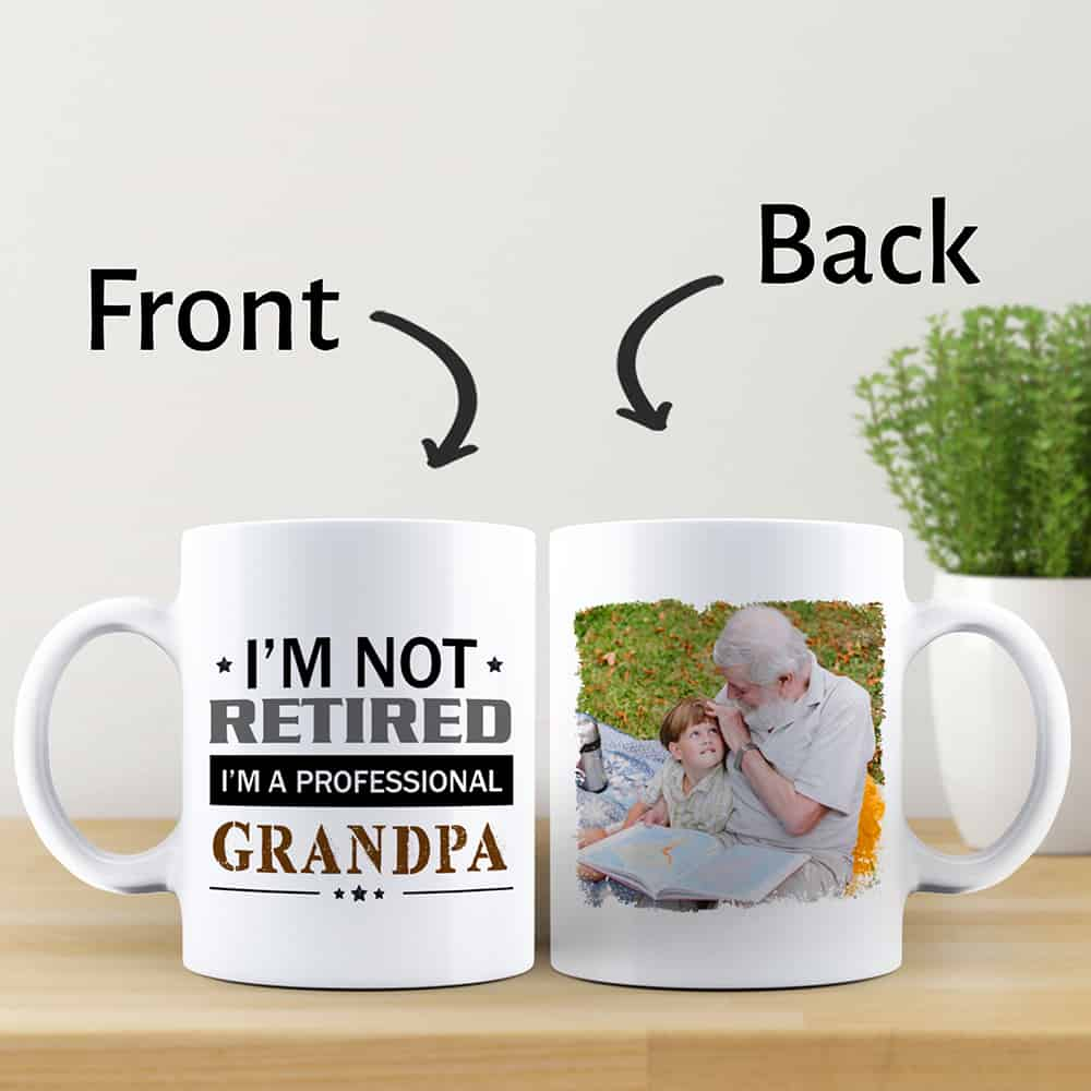 I'm Not Retired I'm A Professional Grandpa - Photo Mug