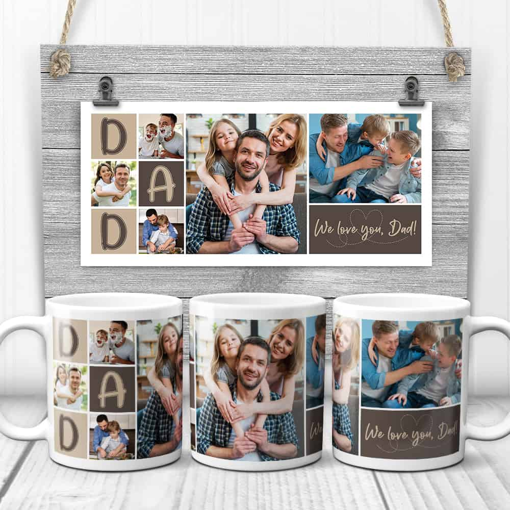 DAD - Custom Photo Collage Mug