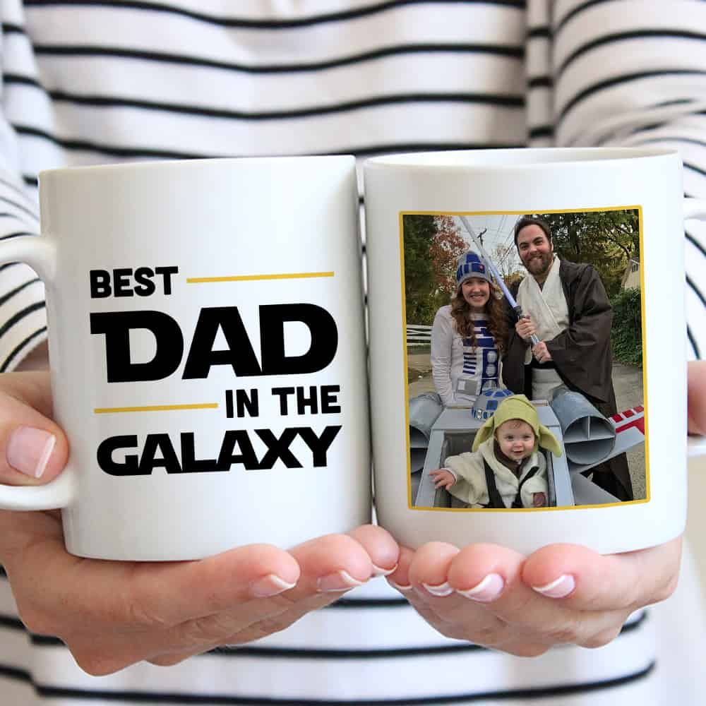Best Dad In The Galaxy Custom Photo Mug