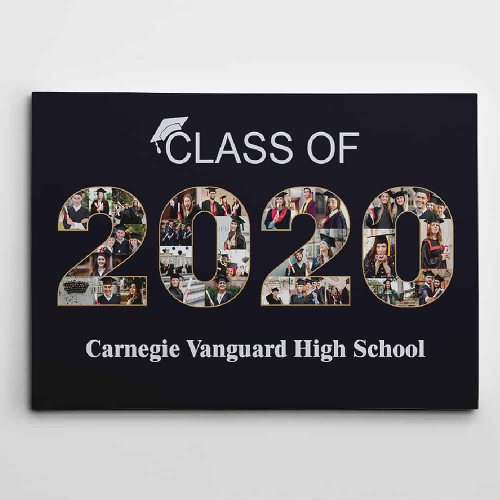 class of 2020 graduation collage canvas print