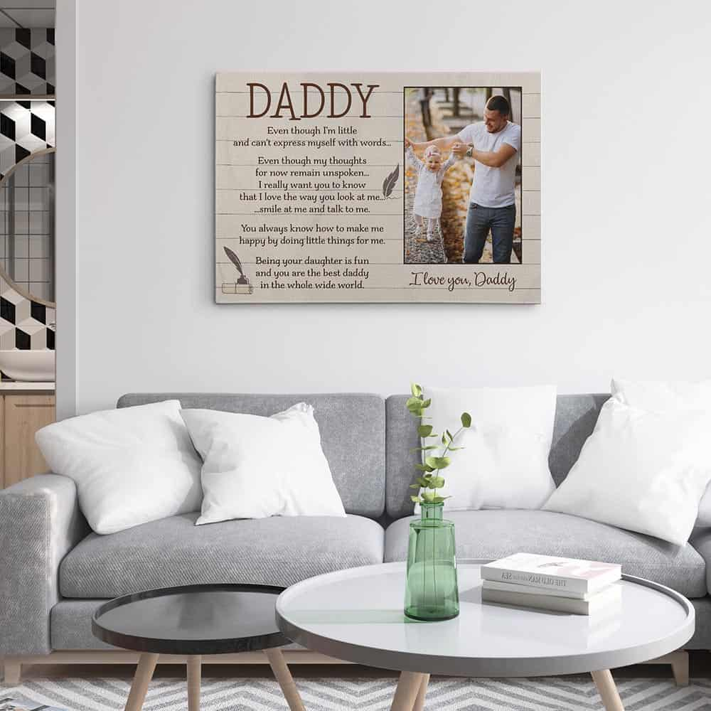 Father's Day Poem From Daughter - Custom Photo Canvas Print - Design B