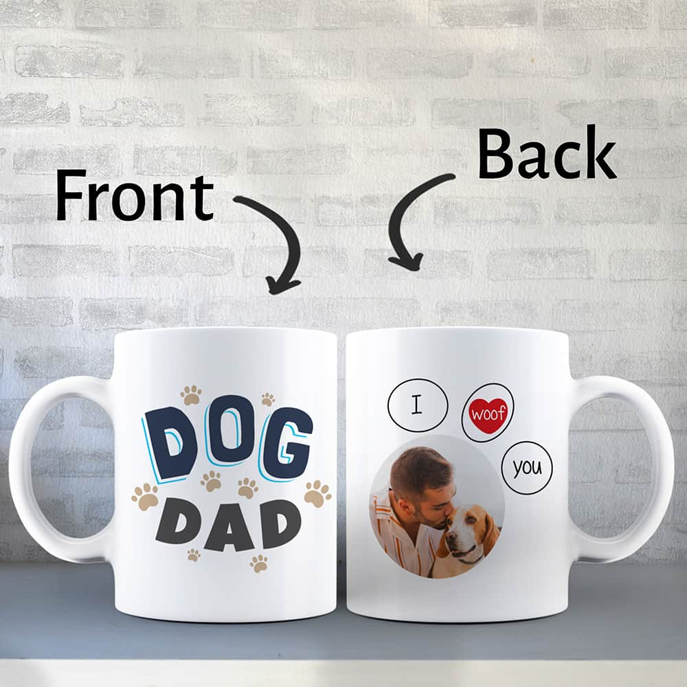 dog dad custom coffee mug - fathers day gift for dog lover