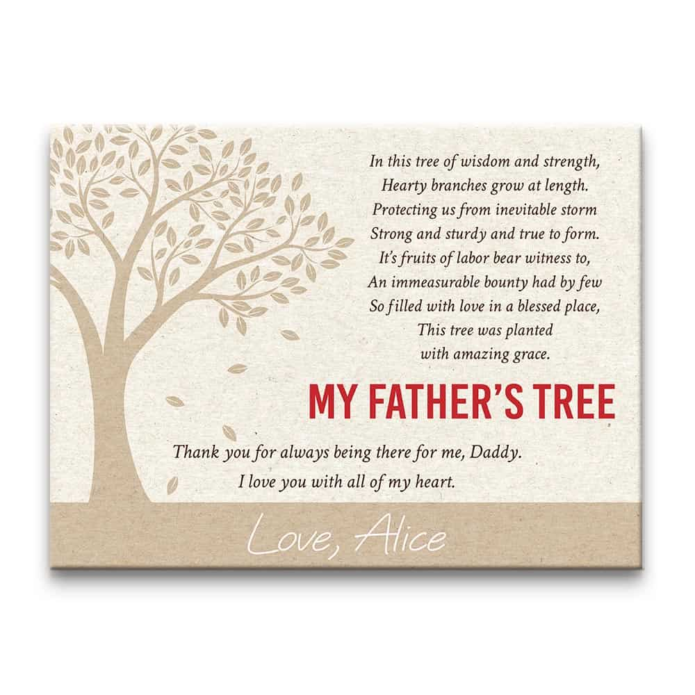 'My Father's Tree' canvas print