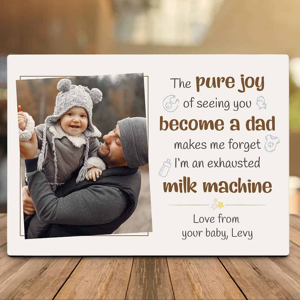 first-time-dad-gift-custom-photo-desktop-plaque