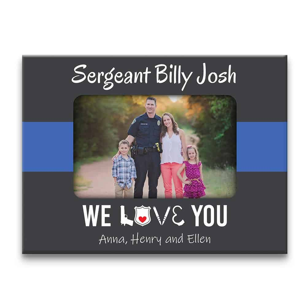 We Love You Thin Blue Line Custom Photo Canvas Print
